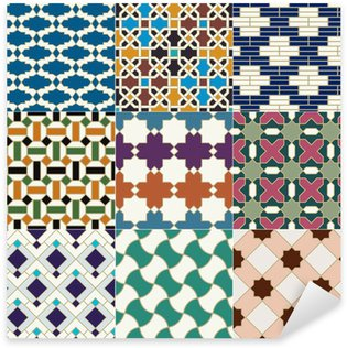 Sticker Pixerstick Motif marocain sans soudure tuile islamique
