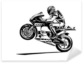 Sticker Pixerstick Moto GP wheelie