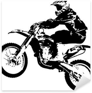 Sticker Pixerstick Motocross cavalier