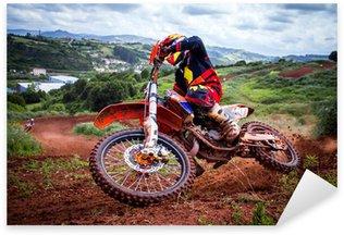 Sticker Pixerstick Motocross rider