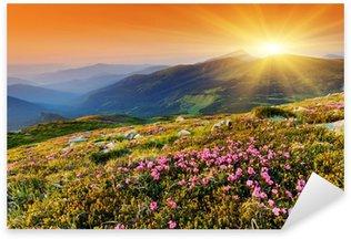 Sticker - Pixerstick mountain landscape