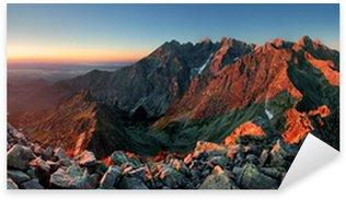 Sticker - Pixerstick Mountain sunset panorama from peak - Slovakia Tatras