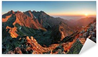 Mountain sunset panorama from peak - Slovakia Tatras Sticker - Pixerstick