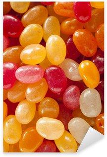 Multi Colored Jelly Bean Candy Sticker - Pixerstick