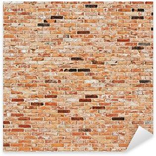 Sticker Pixerstick Mur brique rouge
