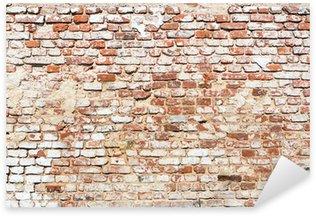 Sticker Pixerstick Mur de briques avec look vintage