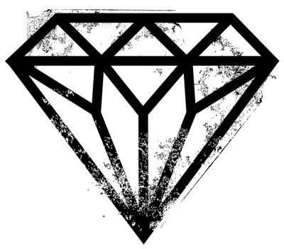 Sticker Mural Diamant tatouage