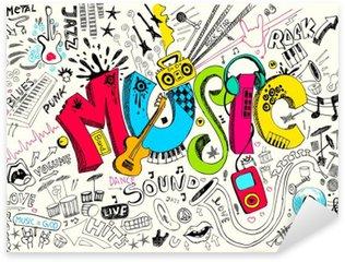Sticker Pixerstick Musique Doodle