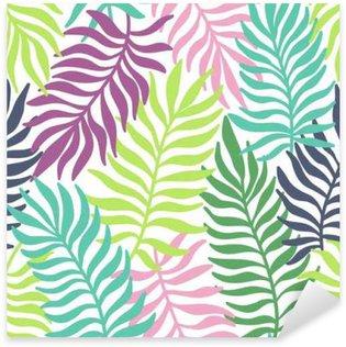 Pixerstick Sticker Naadloos exotische patroon met palmbladeren