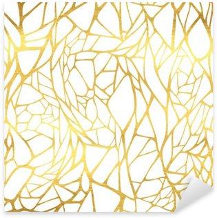 Pixerstick Sticker Naadloos patroon met abstracte gouden sieraad