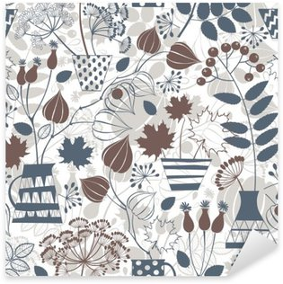 Pixerstick Sticker Naadloos patroon met de herfst boeketten.