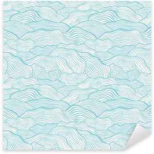 Pixerstick Sticker Naadloos patroon met golvende schaal textuur