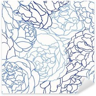 Pixerstick Sticker Naadloos patroon met rozen