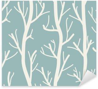 Pixerstick Sticker Naadloze achtergrond met bomen