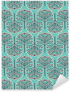 Pixerstick Sticker Naadloze bos patroon