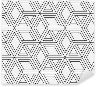 Pixerstick Sticker Naadloze geometrische patroon in op-art design. Vector kunst.