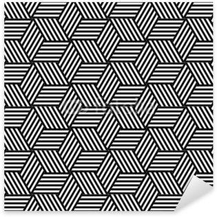 Pixerstick Sticker Naadloze geometrische patroon in op-art design.