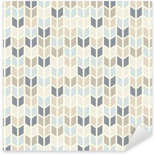 Pixerstick Sticker Naadloze geometrische patroon in pastel tinten