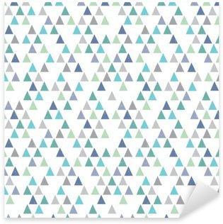 Pixerstick Sticker Naadloze hipster geometrisch patroon driehoeken aqua blauw