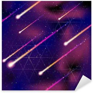Pixerstick Sticker Naadloze meteorenregen achtergrond