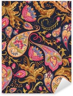 Pixerstick Sticker Naadloze Paisley patroon