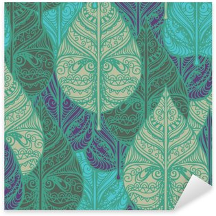 Pixerstick Sticker Naadloze patroon met bladeren