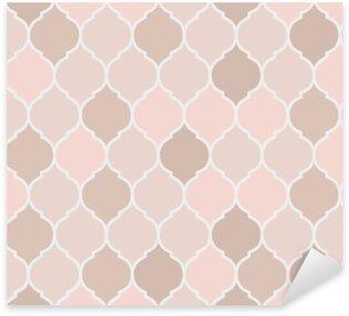 Pixerstick Sticker Naadloze patroon roze tegels, vector