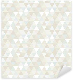 Pixerstick Sticker Naadloze Patroon van de Driehoek, achtergrond, textuur