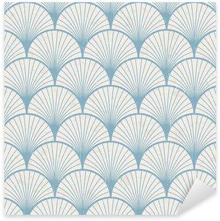 Pixerstick Sticker Naadloze retro Japanse patroon textuur