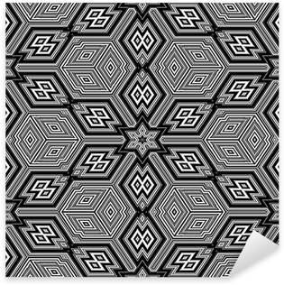 Pixerstick Sticker Naadloze textuur met 3d geometrische figuren