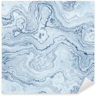 Pixerstick Sticker Naadloze textuur van blauw marmer patroon voor de achtergrond / illustratie