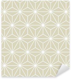 Pixerstick Sticker Naadloze Vector Geometrische Textuur