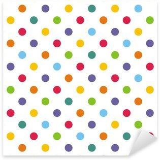 Pixerstick Sticker Naadloze vector patroon of achtergrond met kleurrijke stippen