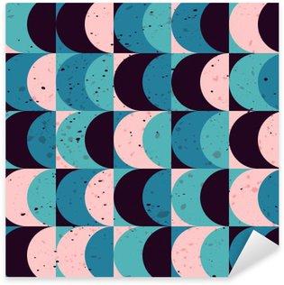 Pixerstick Sticker Naadloze vintage geometrisch patroon