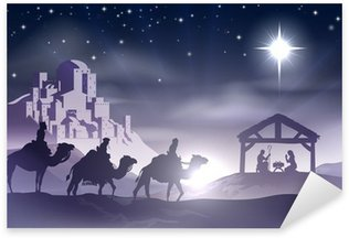 Nativity Christmas Scene Sticker - Pixerstick