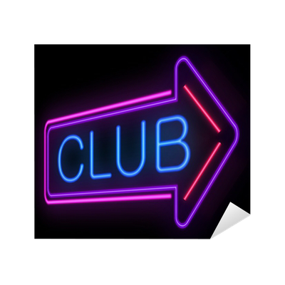Neon Club sign. Sticker • Pixers® • We live to change