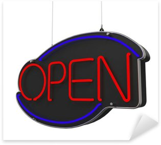 Sticker - Pixerstick Neon Open Sign