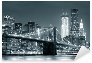 New York City Brooklyn Bridge Sticker - Pixerstick