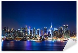 New York Manhattan skyline Sticker - Pixerstick