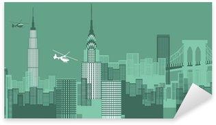 Sticker Pixerstick NewYork paysage urbain