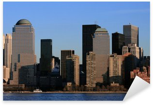 Sticker Pixerstick Newyork Skyline à midi