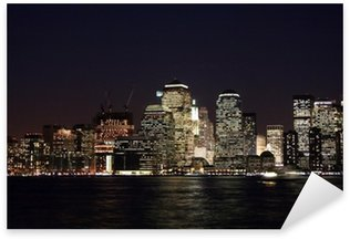 Sticker Pixerstick Newyork Skyline de nuit