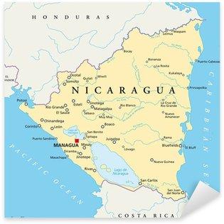 Nicaragua Map Nicaragua Landkarte Wall Mural Pixers We Live - Nicaragua map hd