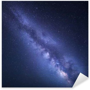 Night starry sky with Milky Way. Nature background Sticker - Pixerstick