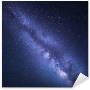 Pixerstick Sticker Night sterrenhemel met de Melkweg. Natuur achtergrond