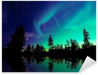 Northern lights aurora borealis Sticker - Pixerstick