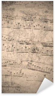 Sticker Pixerstick Notes de musique de cru