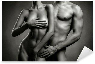 Nude sensual couple Sticker - Pixerstick