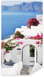 Sticker - Pixerstick Oia village at Santorini island, Greece