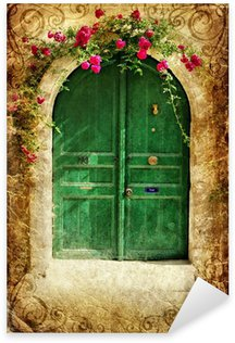Sticker - Pixerstick old greek doors - vintage series